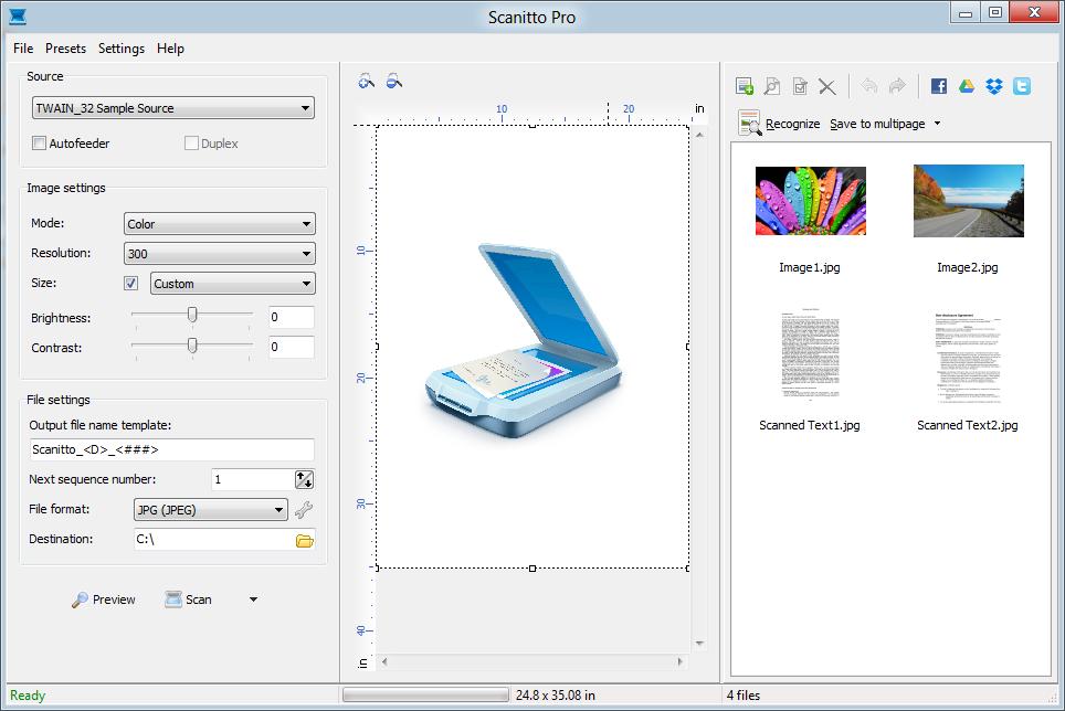 Scanitto Pro – Windows için Alternatif Tarama Yapma Programı